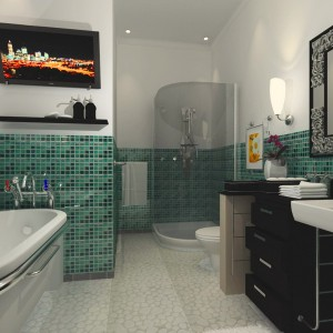 Luxury-Modern-Green-Bathroom-Decoration-Ideas