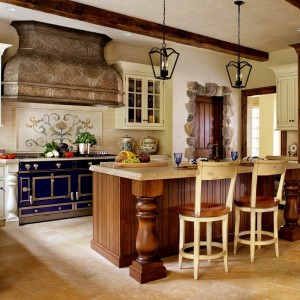 08-u-shape-kitchen-decorating-using-simple-dark-brown-and-white-wood-french-country-style-kitchen-cabinets-including