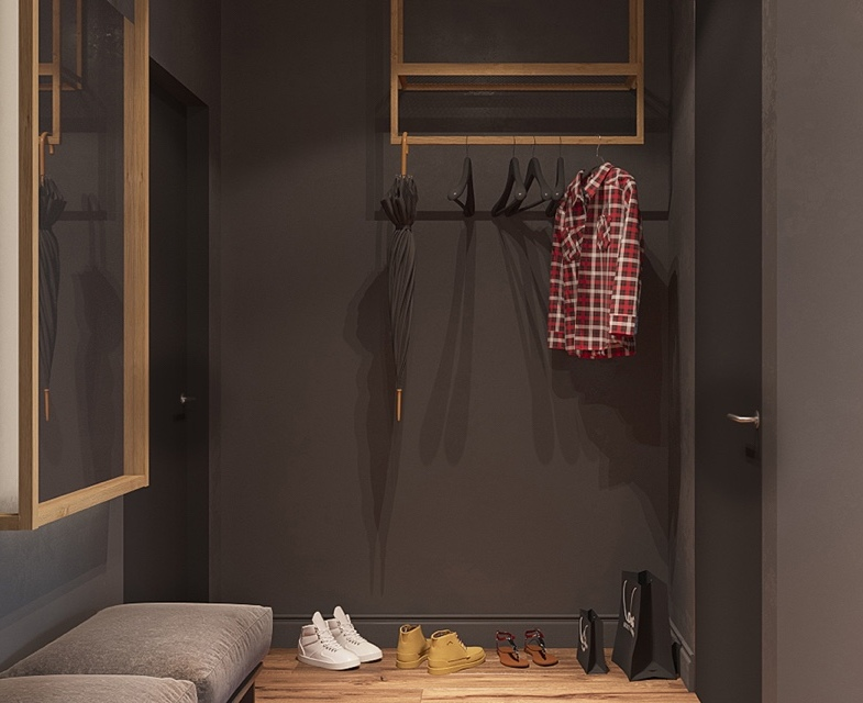 gray-entryway-hooks-shoe-storage